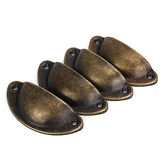 4pcs Bronze Iron Antique Drawer Pull Handle