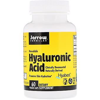 Fórmulas Jarrow, ácido hialurónico, 60 gorras vegetarianas