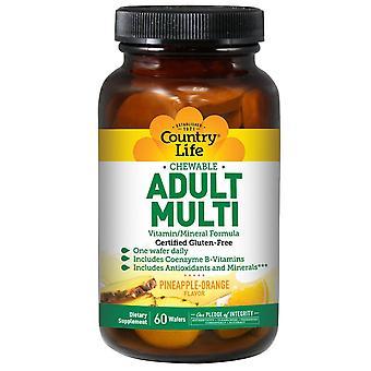 Vita di campagna, Adulti Masticabili Multi, Ananas-Arancione, 60 Wafer