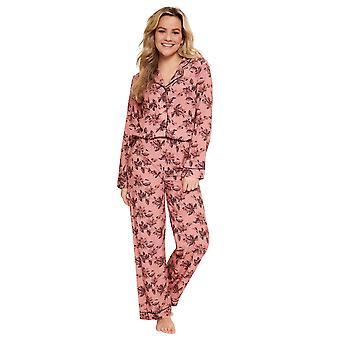 LingaDore Çiçek Fudge 5604-13 Kadın's Pembe Çiçek Pijama Seti