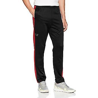 Peak Velocity Men's Quantum Fleece Athletic-Fit Varsity Sweatpants, black/tor...