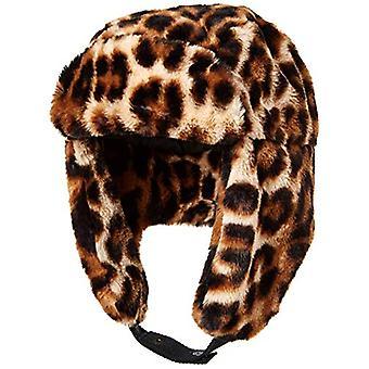 Essentials Women's Faux Fur Trapper Hat, Leopard,, Leopard, Size One Size