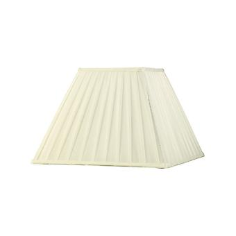 Square Pleated Fabric Shade Ivory 175, 350mm x 250mm