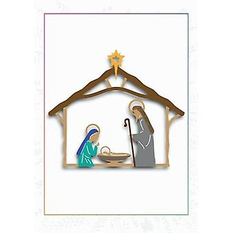 Sharon Callis Arts 'n Flowers Layered Die Set - O Holy Night Nativity