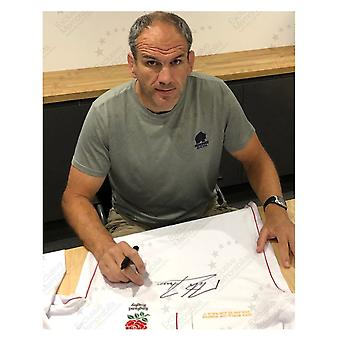 Jonny Wilkinson, Martin Johnson & Jason Robinson Triple Signed Rugby Shirt