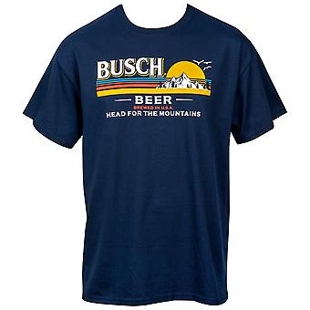 Busch Beer Head for the Mountains Logo Camiseta