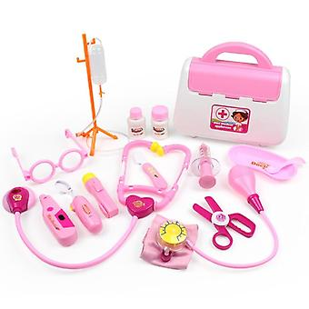 Set Simulation Family Doctor Medical Kit Pretend Play Portable Suitcase Medicine Accessorie Children Toys