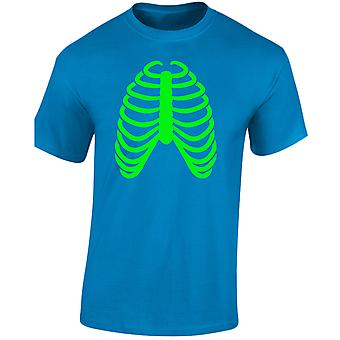 Rib Cage Halloween Glow In The Dark Mens T-Shirt 10 Colours (S-3XL) by swagwear
