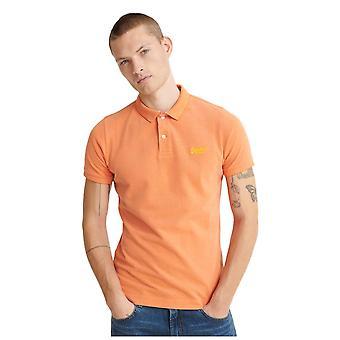 Superdry Classic Pique Short Sleeve Polo Shirt - Dusky Coral Twist