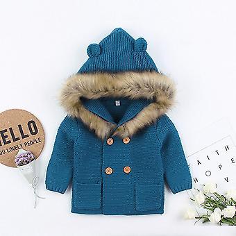 Vintervarm, Huva rockar, fur krage Unisex ytterkläder