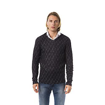 BYBLOS Nero Black Regular Fit V-neck Sweater
