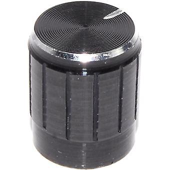 Black Metal Control Knob - 6mm Shaft