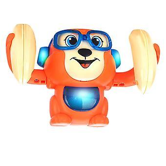 Baby Voice Control Electric Flip Rolling Little Monkey Toy- Walk Sing Brain Toy
