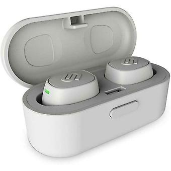 Urbanista Tokyo True Wireless Earbuds 16H Playtime Bluetooth 5.0 with Charging Case, Multi Function Button Earphones Compatible with Android and iOS - Silver