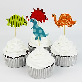 Dinosaur Cartoon Shape, Cupcake Toppers