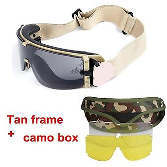 Army Tactical Glasses, Airsoft Glasses Paintball Shooting Glasses- Uv