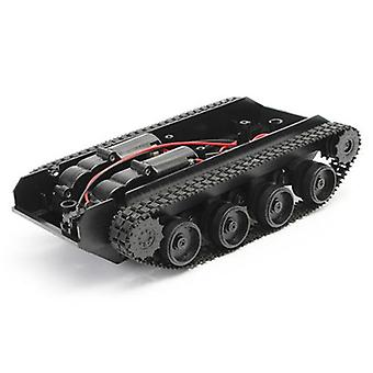 Tank Smart Robot Car Chassis Kit Rubber Track Crawler Arduino Robot For (black)