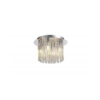 Florence Ceiling Light, 4 X G9, Ip44, Polished Chrome/clear Glass