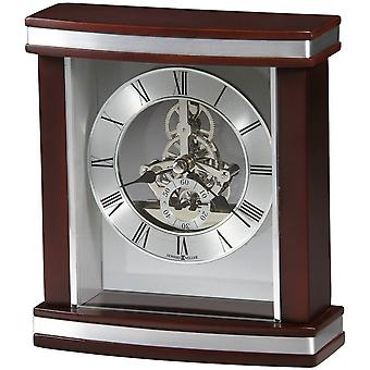 Howard Miller Templeton Tabletop Clock - Dark Brown/Silver
