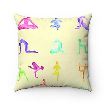 Yoga Sanctuary Square Pillow