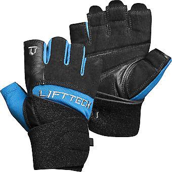 Lift Tech Fitness Elite Handgelenk Wrap Gewicht heben Handschuhe - blau/schwarz