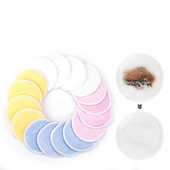 3 Layer, Make Up Remover Pads-reusable And Washable Face Wipes