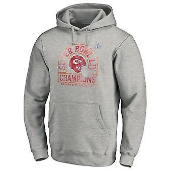 Kansas City Chiefs Loose Hooded Sweatshirt Hoodie Tops WYK082