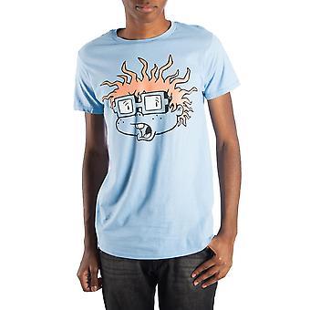 Rugrats chuckie finster men's blue t-shirt tee shirt