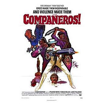 Companeros 映画のポスター (11 x 17)