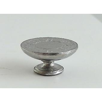 Dolls House Miniature 1:24 Scale Dining Room Accessory Metal Cake Stand