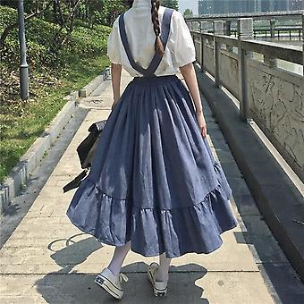 Mujeres verano estilo japonés Kawaii Lolita adolescentes faldas altas suaves (suspender