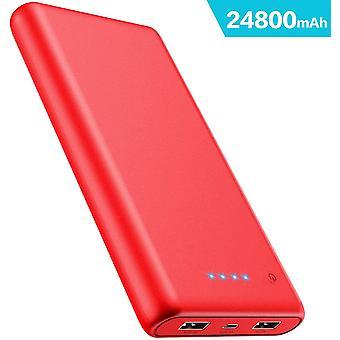 iPosible Power Bank, Portable Charger [24800mAh] High Capacity External Battery Pack