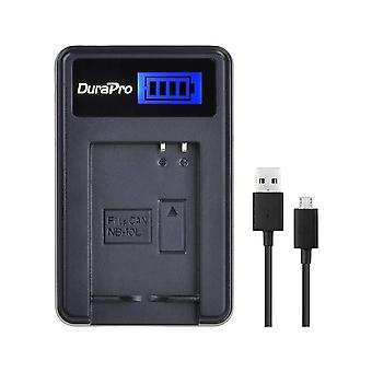 Durapro rapid lcd usb charger for nb-10l battery and charger for canon powershot g15, g16, g1x, g3x,