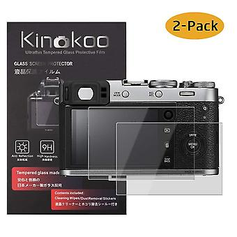 Kinokoo tempered glass film for fuji x100f/x100t crystal clear film fujifilm x100f x100t screen prot