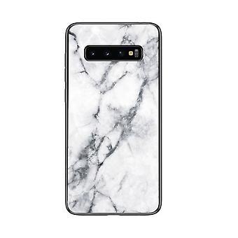 Marmorityylinen TPU-kotelo Samsung Galaxy S9 + / S9 Plus - Valkoinen