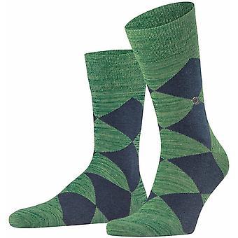 Calcetines Clyde multicolores de Burlington - Verde Esmeralda/Azul