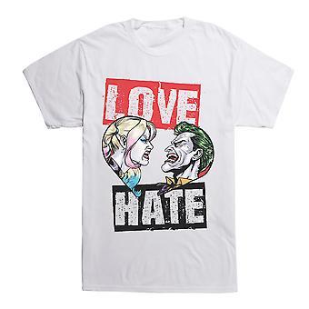 DC Comics Batman Love Hate Harley & Joker T-Shirt