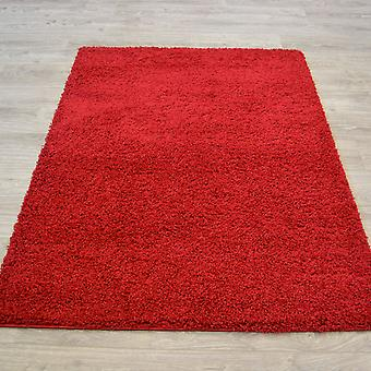 Cariboo Shaggy Rugs In Red