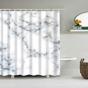 Waterproof Shower Curtains Fabric, Polyester, Marble Stripes, Printing