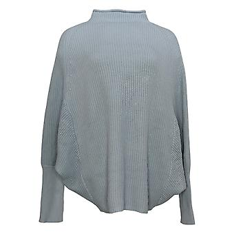 Lisa Rinna Collection Women's Sweater Pullover Mock Neck Blue A385470