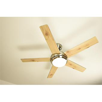 Ceiling Fan FRESCO Nickel with Light and Remote