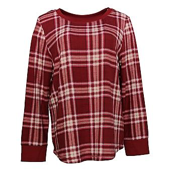 Carole Hochman Women's Marshmallow Jersey Novelty Pajama Top Red A381876