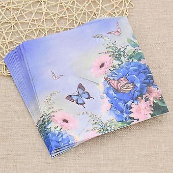 20ps Butterfly Flower Papel Papel Guardanapos Tecido Serviette