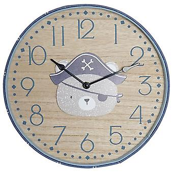 Wall Clock Dekodonia Bear Pirate (31 x 4 x 31 cm)