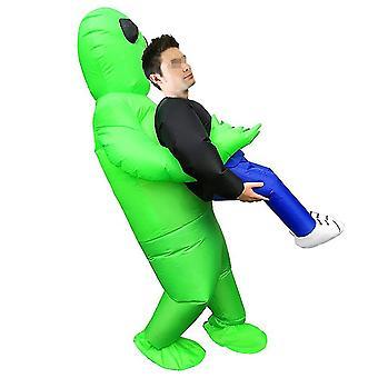 Inflatable Costume Green Ghost Hug People