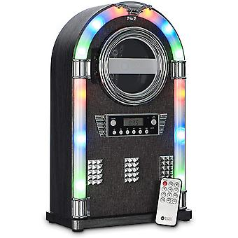 DZK Gizmos Jukebox Entertainment Centre with Bluetooth, CD Player and Radio with Colourful LED