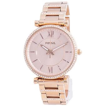 Fossil Carlie Diamond aksentit kvartsi Es4301 Naiset's Watch