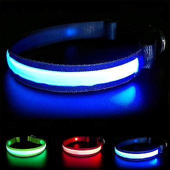 Masbrill light up dog collar, led dog collar with rechargeable and waterproof, durable glowing dog c wof57385