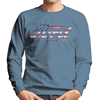 Ford Mustang GT USA Bandera Logo Hombres's Sudadera