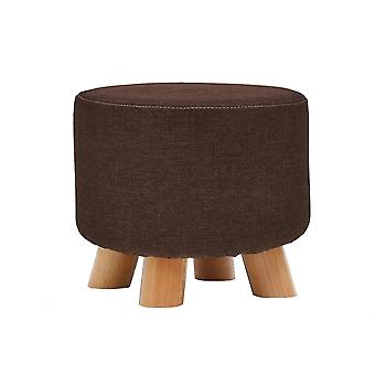Household solid wood round shoe changing stool